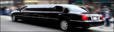 Limousine in motion